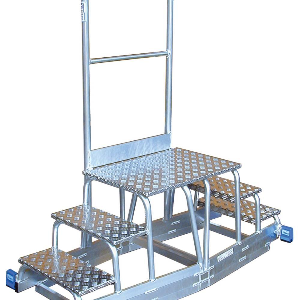 Krause - egyedi fellépő vasúti rendszerhez - alumínium egyedi megoldás