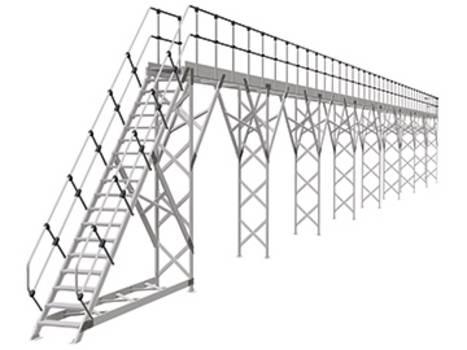 Talajhoz rögzített oldalsó és tető-munkaállvány