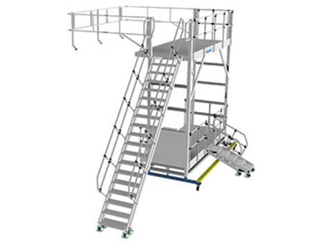 Állítható magasságú alumínium oldalsó munkaállvány egyedi megoldásként