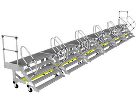 Alumínium oldalsó munkaállvány moduláris elemekből
