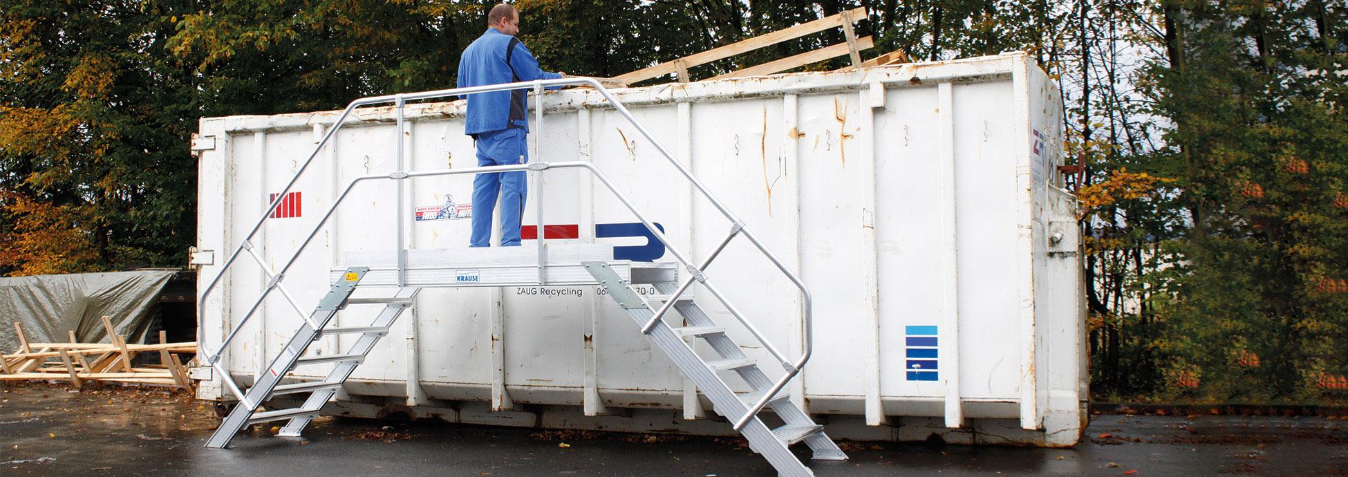 Alumínium egyedi megoldások, szerelődobogók és dobogók hulladékkezeléshez