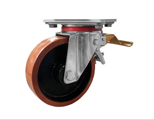 Standard fékezhető kerék, 200 mm, gurítható aknadobogóhoz