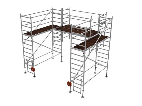 Alumínium egyedi állvány karbantartási és szerelési munkálatokhoz